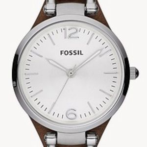 Fossil Women's Georgia Brown Leather Watch